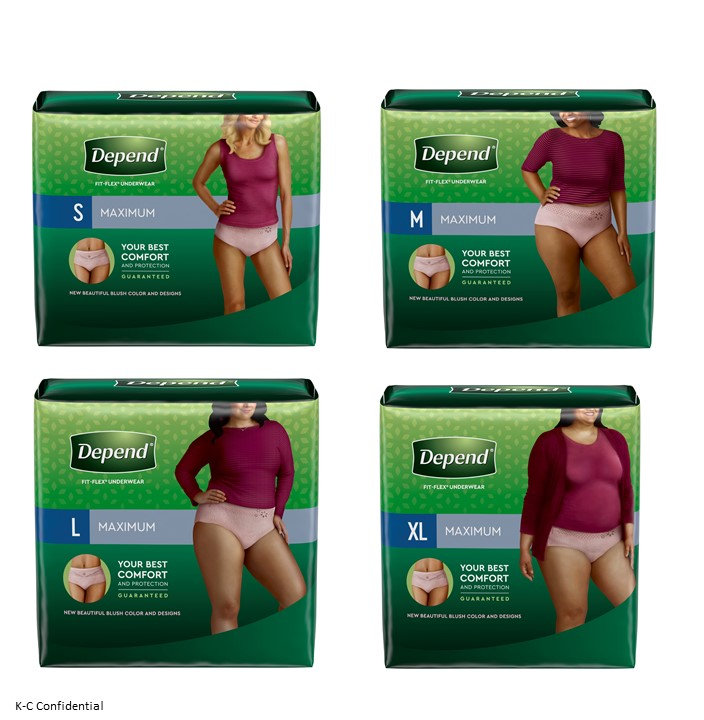 Depend fit flex max Coupon for Women
