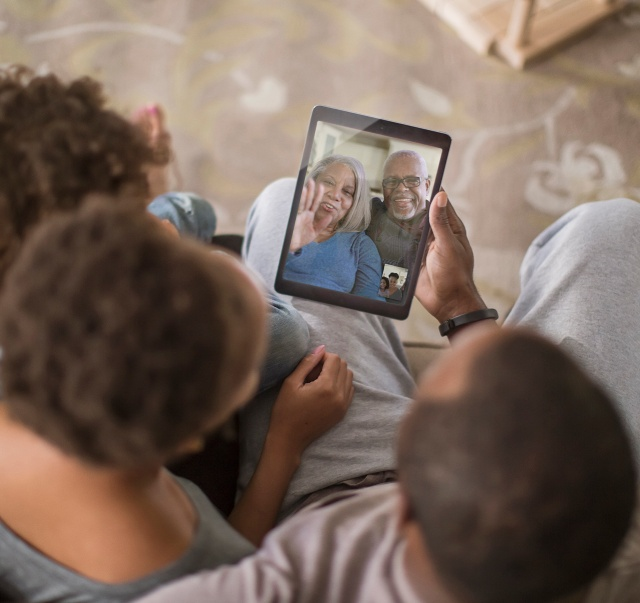 Depend caregivers video calling family members