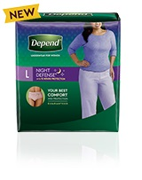 Depend® Night-Defense® large size for women