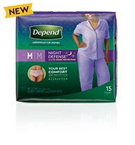 Depend® Night-Defense® medium size for women