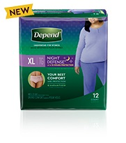 Depend® Night-Defense® XL extra large size for women