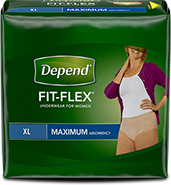 Depend® Fit-Flex® extra large size with maximum absorbency for women