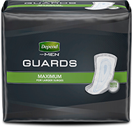 Depend® Guards with maximum absorbency for men