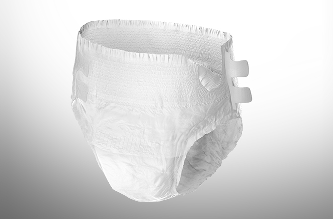 Depend Adjustable Underwear Small White Mobile Image.