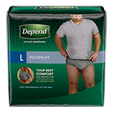 Depend FIT-FLEX maximum Absorbency Incontinence Underwear for Men
