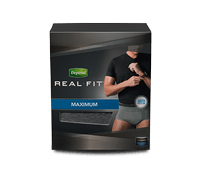 Depend Real Fit Briefs for Men product package.