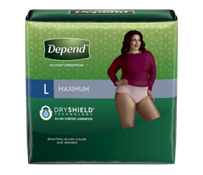 Depend FIT-FLEX Maximum Absorbency Incontinence Underwear for Women