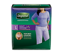 Depend Night Defense Overnight Protection Underwear for Women