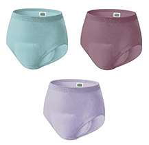 Silhouette Brief for Women - three colors of briefs, beige, black, lavender.""