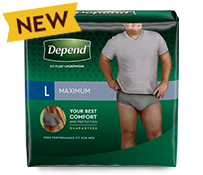 Try Depend FIT-FLEX Maximum Absorbency Underwear for Men for a Change Today