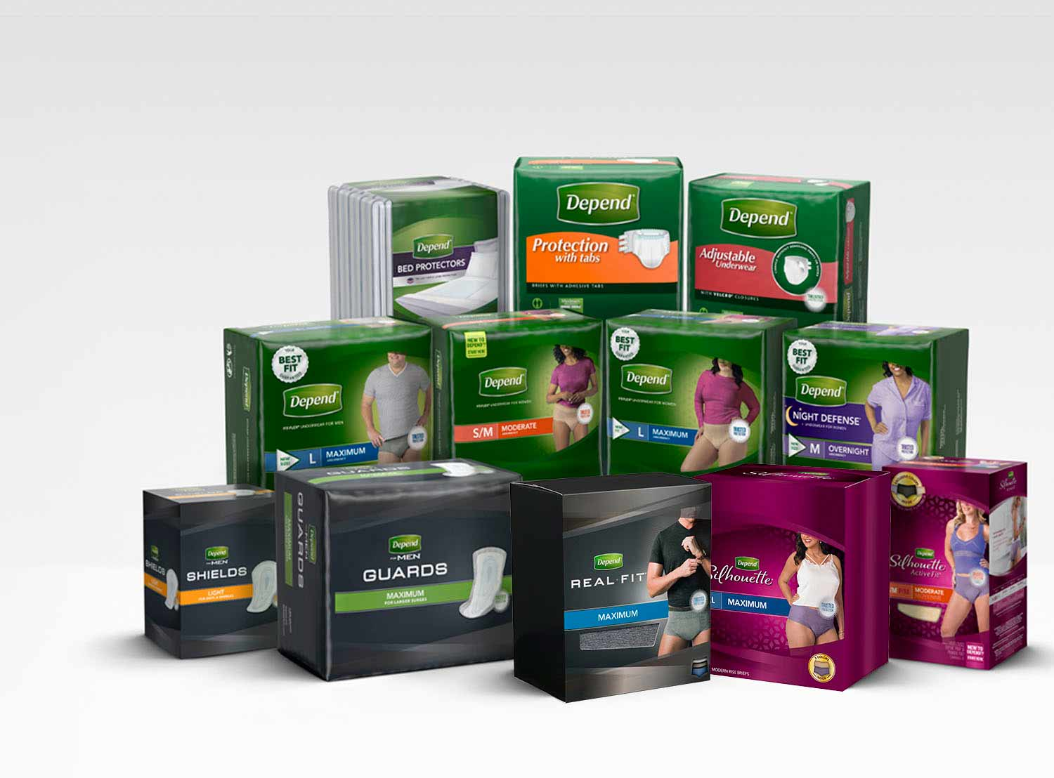 Depend product family line up