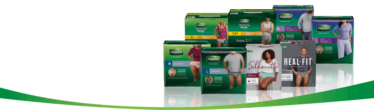 Collection of some Depend® protection products