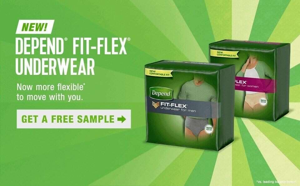 Depend Incontinence Fit-Flex Underwear Moderate Protection Absorbency  Men Women